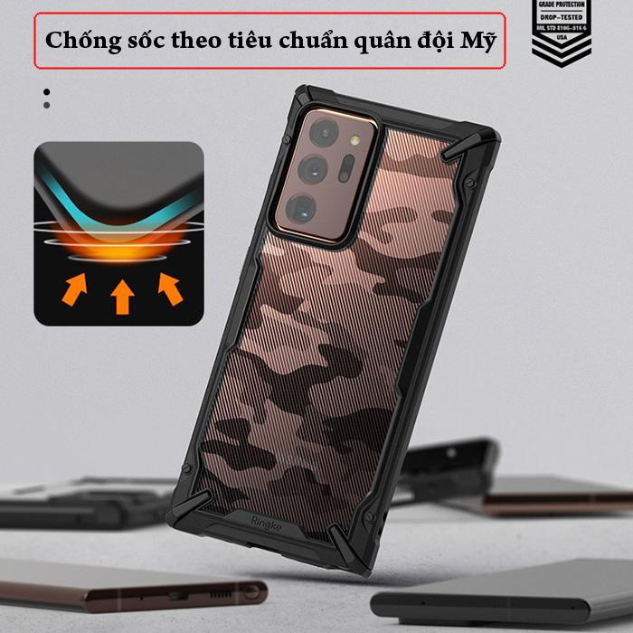Ốp lưng Samsung Note 20 Ultra / 5G Ringke Fusion X Camo ( từ USA ) 2