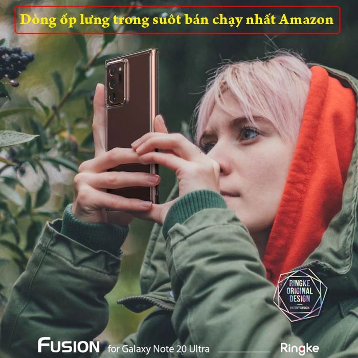 Ốp lưng Note 20 Ultra / 5G Ringke Fusion trong suốt  ( Hàng Mỹ ) 5
