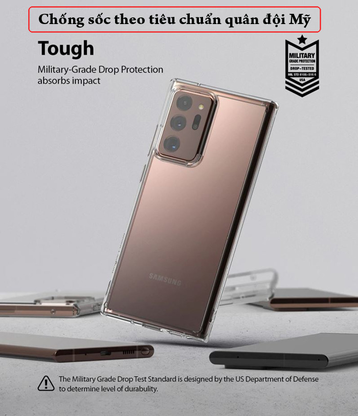 Ốp lưng Note 20 Ultra / 5G Ringke Fusion trong suốt  ( Hàng Mỹ ) 3