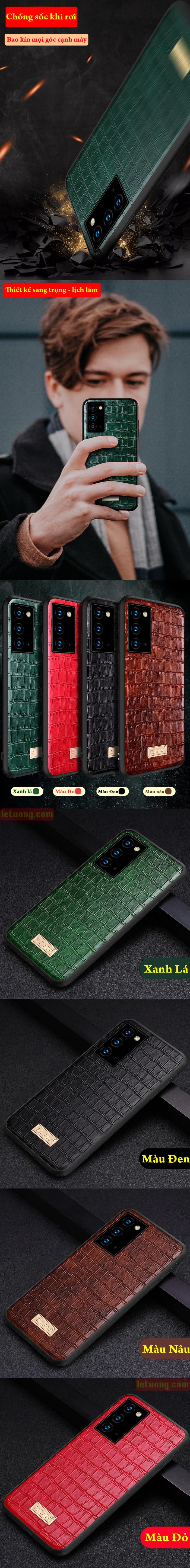 Ốp lưng Note 20 Ultra / 5G Sulada Sic Serie lưng da sang trọng lịch lãm 5