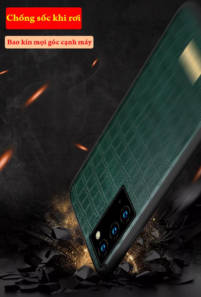 Ốp lưng Note 20 Ultra / 5G Sulada Sic Serie lưng da sang trọng lịch lãm 2