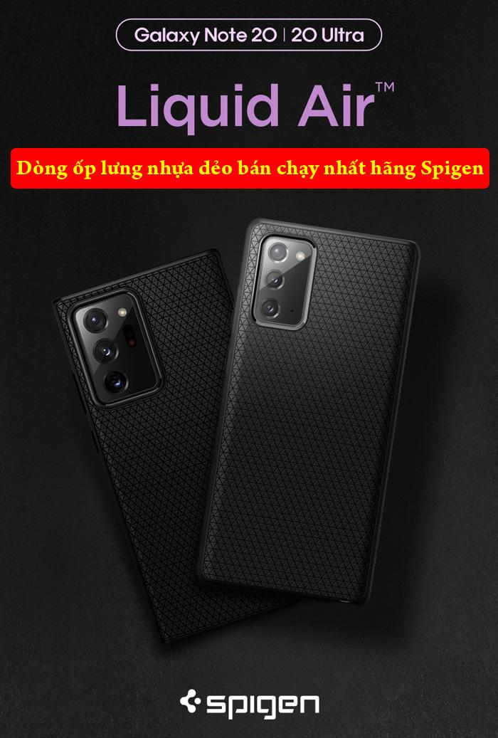 Ốp lưng Samsung Note 20 Ultra / 5G Spigen Liquid Air Armor từ Mỹ 1