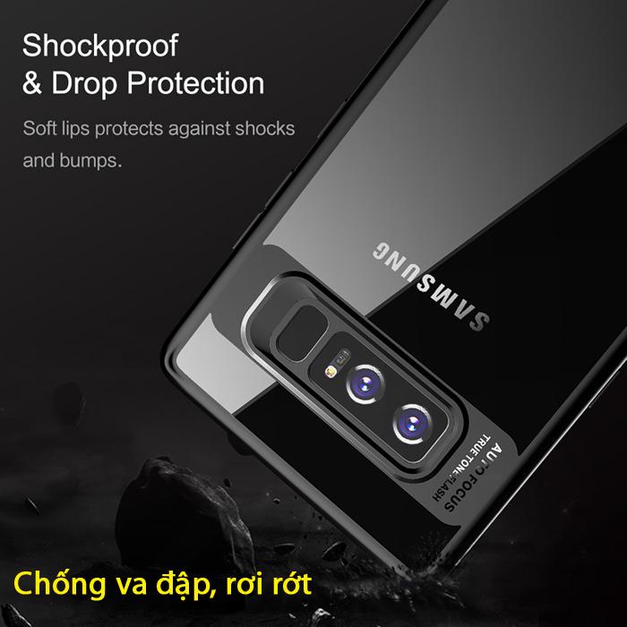 Ốp lưng Galaxy Note 8 Rock Protectinon Case lưng trong viền mềm 3