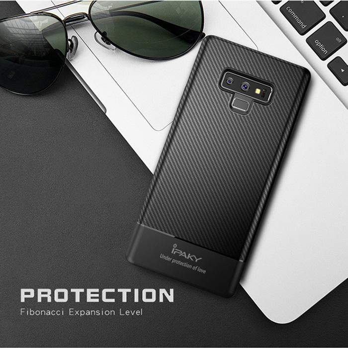 Ốp lưng Galaxy Note 9 Ipaky Carbon Fiber chống vân tay 1