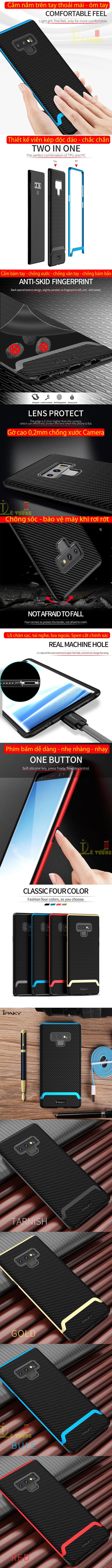 Ốp lưng Note 9 Ipaky Neo Hybrid viền kép chắc chắn sang trọng 5