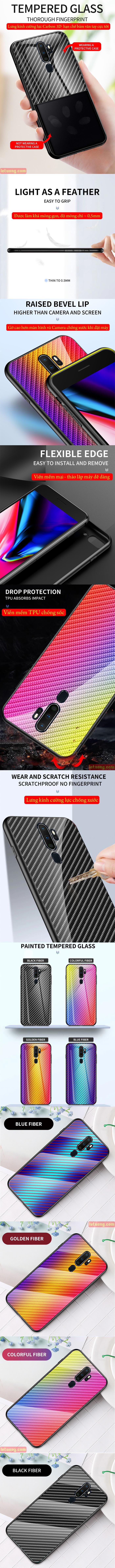 Ốp lưng Oppo A9 2020 LT Glass Carbon 3D Cực độc, Rất đẹp 2
