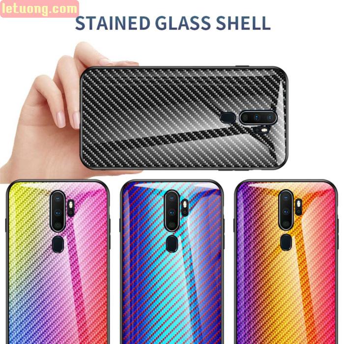Ốp lưng Oppo A9 2020 LT Glass Carbon 3D Cực độc, Rất đẹp 1