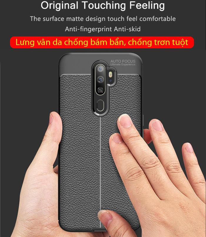 Ốp lưng Oppo A9 2020 LT Leather Design Case vân da - sang trọng 1