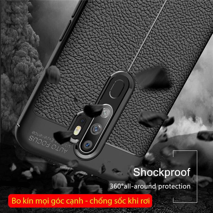 Ốp lưng Oppo A9 2020 LT Leather Design Case vân da - sang trọng 2