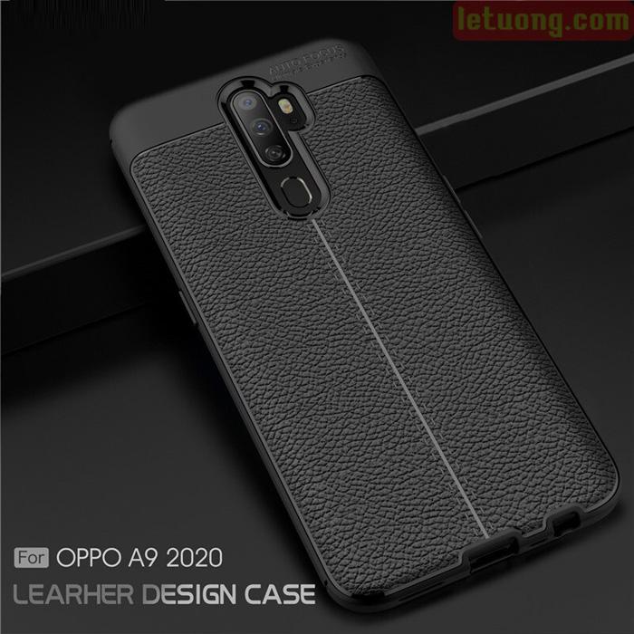 Ốp lưng Oppo A9 2020 LT Leather Design Case vân da - sang trọng 3