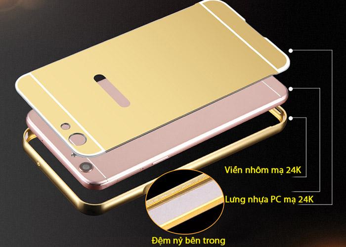 Ốp lưng Oppo F1S LT Metal 24K Mạ Bóng
