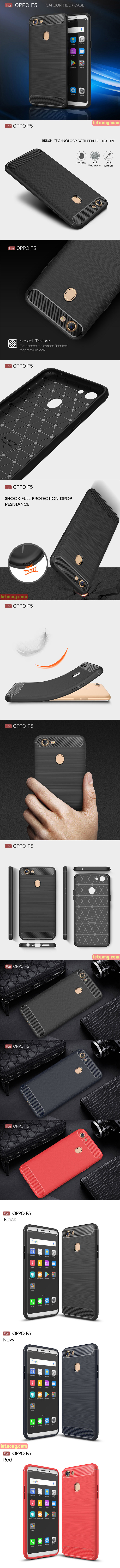 Ốp lưng Oppo F5 / F5 Youth Viseaon Rugged Armor Carbon nhựa mềm chống sốc