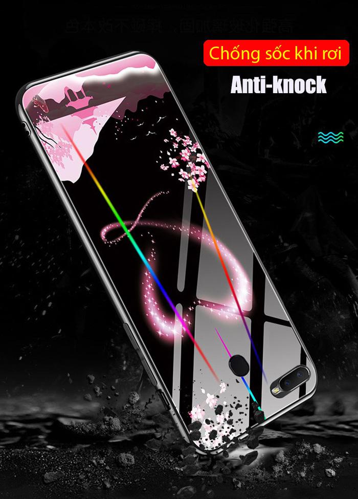 Ốp lưng Oppo F9 LT Lumious Glass Laser dạ quang cực độc 4