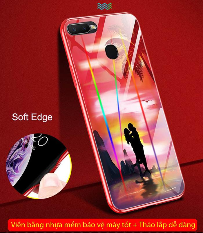 Ốp lưng Oppo F9 LT Lumious Glass Laser dạ quang cực độc 3