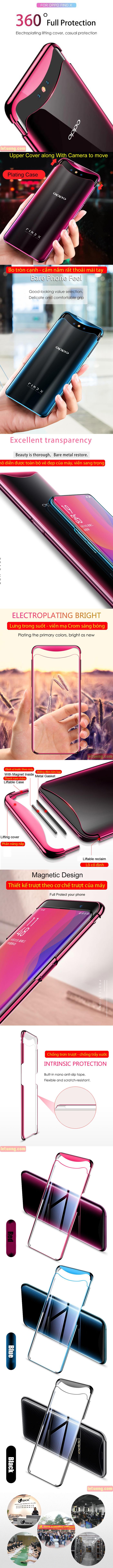 Ốp lưng Oppo Find X GKK Case Plating 360 viền mạ Crom sang bóng 5