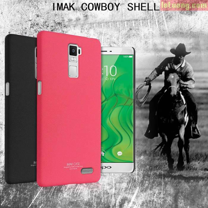 Ốp lưng Oppo R7 Plus Imak Cowboy lưng sần chống vân tay 5
