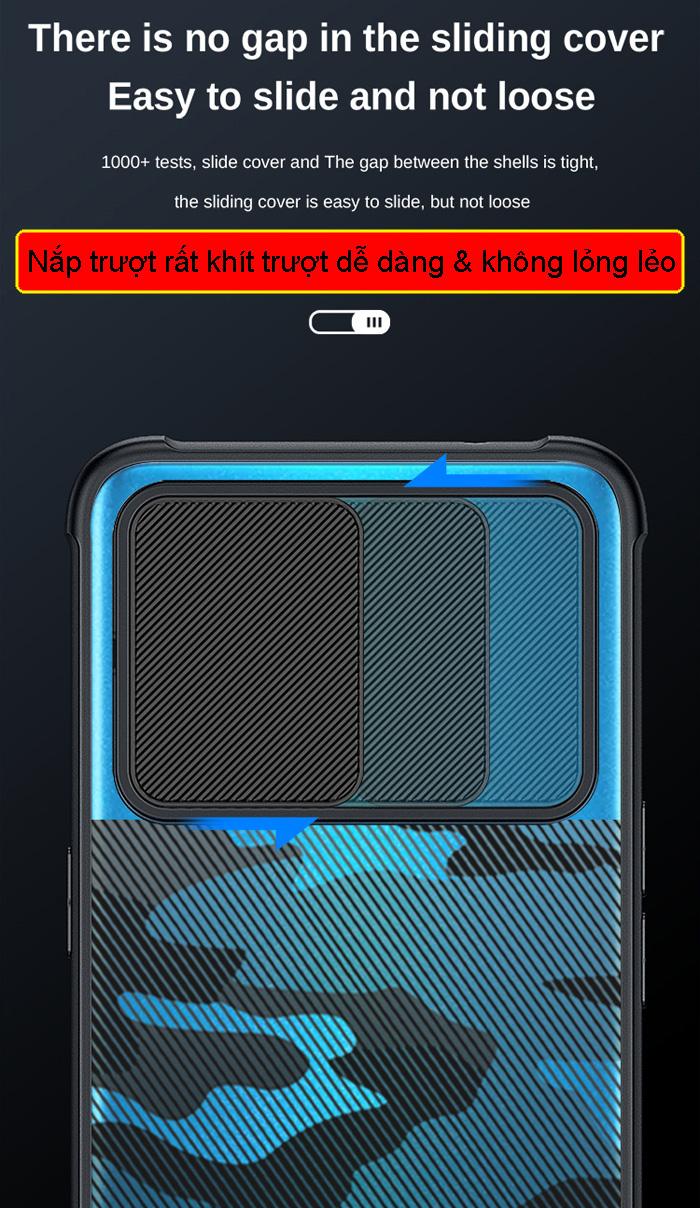 Ốp lưng Oppo Reno 5, Reno5 5G Rzants Camouflage Lens bảo vệ camera 1