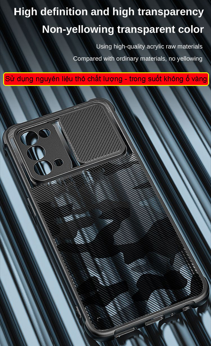 Ốp lưng Oppo Reno 5, Reno5 5G Rzants Camouflage Lens bảo vệ camera 3