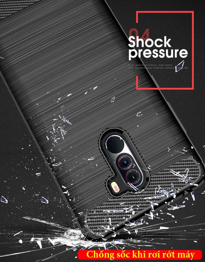 Ốp lưng Pocophone F1 iPaky Rugged Case - chống vân tay - chống sốc 3