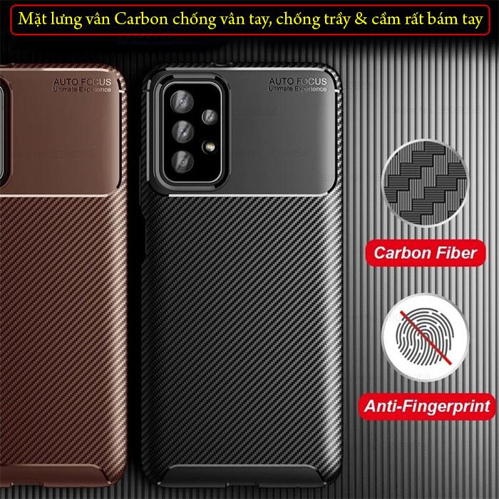 Ốp lưng Samsung A72 5G LT Carbon Fiber Case chống bám vân tay 1