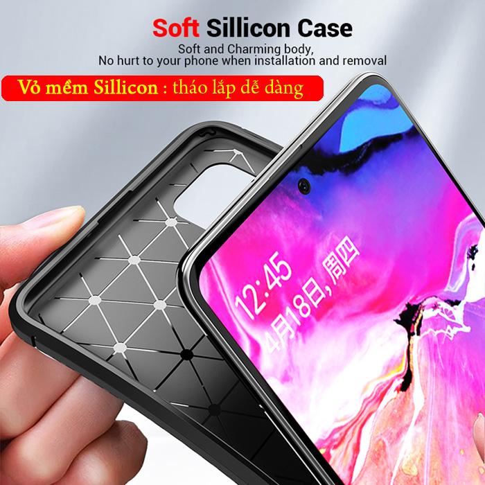 Ốp lưng Samsung A72 5G LT Carbon Fiber Case chống bám vân tay 6