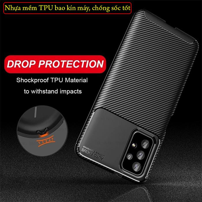 Ốp lưng Samsung A72 5G LT Carbon Fiber Case chống bám vân tay 3