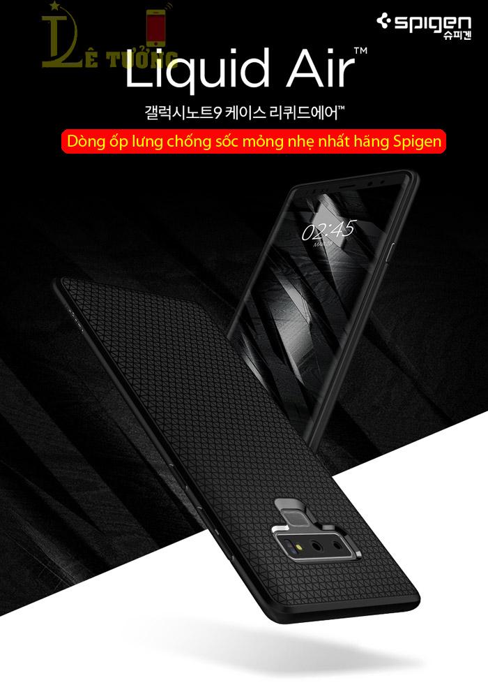 Ốp lưng Galaxy Note 9 Spigen Liquid Air Armor nhựa mềm ( hàng USA ) 1