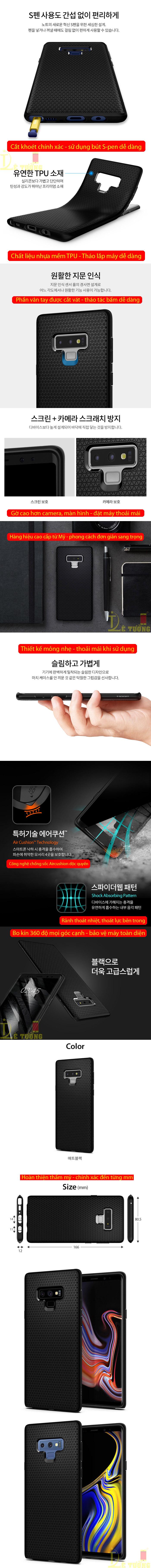 Ốp lưng Galaxy Note 9 Spigen Liquid Air Armor nhựa mềm ( hàng USA ) 3