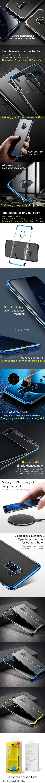 Ốp lưng Galaxy S9 Baseus Glitter trong suốt viền crom tuyệt đẹp 3