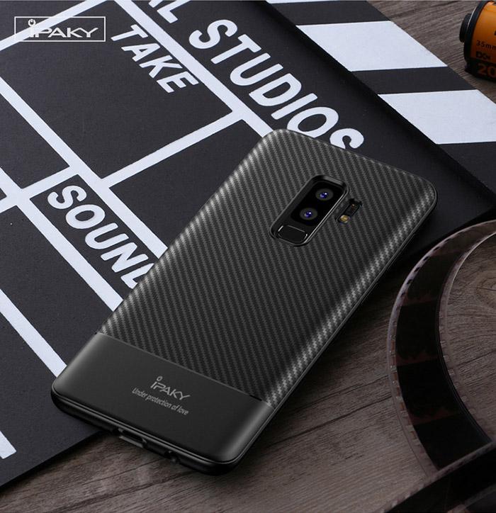 Ốp lưng Galaxy S9 Plus Ipaky Carbon Fiber chống vân tay 1