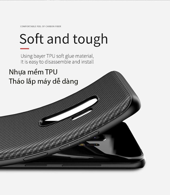 Ốp lưng Galaxy S9 Plus Ipaky Carbon Fiber chống vân tay 2