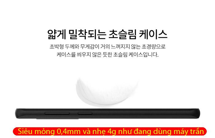 Ốp lưng Galaxy S9 Spigen Air Skin 0,4mm mỏng nhẹ nhất từ USA - tặng dán lưng Carbon 2