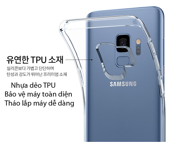 Ốp lưng Samsung Galaxy S9 Spigen Liquid Crystal trong suốt từ USA 1