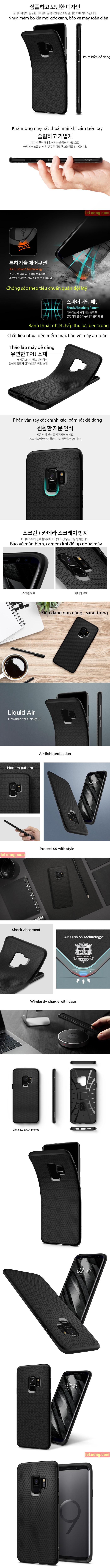 Ốp lưng Samsung Galaxy S9 Spigen Liquid Air chống sốc mỏng nhất từ Mỹ 3