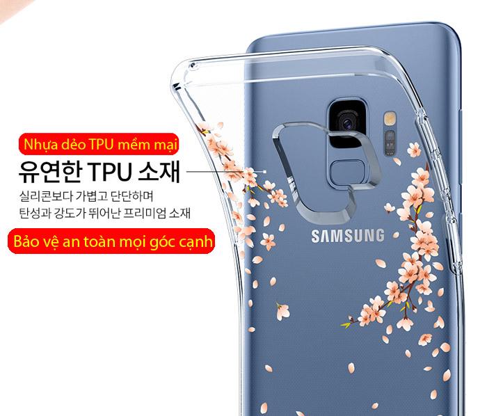Ốp lưng Galaxy S9 Spigen Liquid Crystal Blossom thời trang từ USA 2