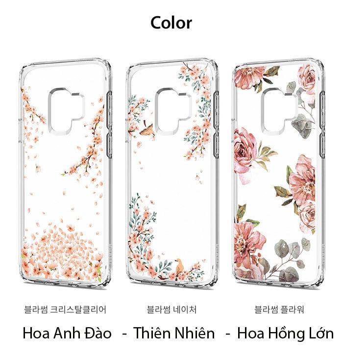 Ốp lưng Galaxy S9 Spigen Liquid Crystal Blossom thời trang từ USA 1