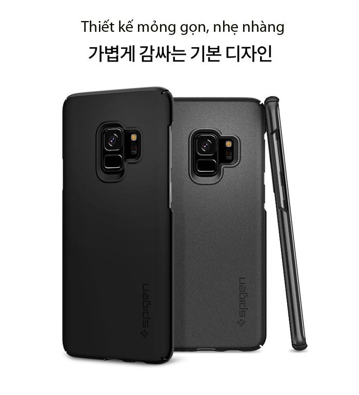 Ốp lưng Samsung Galaxy S9 Spigen Thin Fit siêu mỏng nhẹ từ USA 2