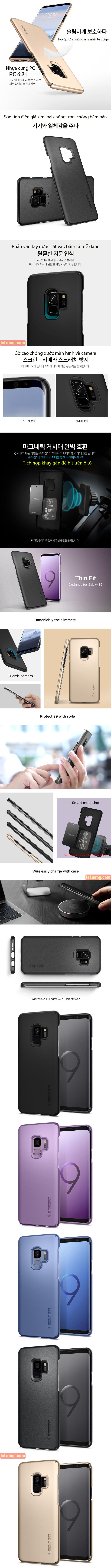 Ốp lưng Samsung Galaxy S9 Spigen Thin Fit siêu mỏng nhẹ từ USA 4