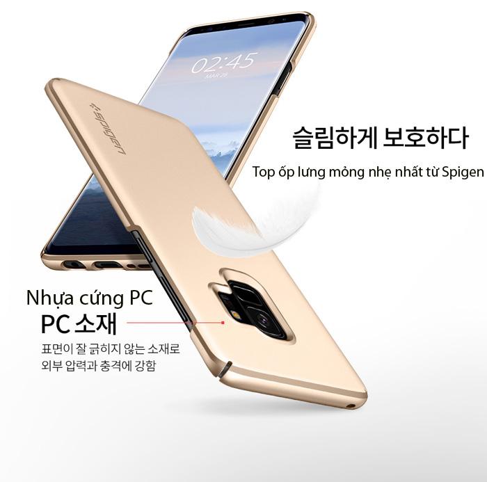 Ốp lưng Samsung Galaxy S9 Spigen Thin Fit siêu mỏng nhẹ từ USA 3