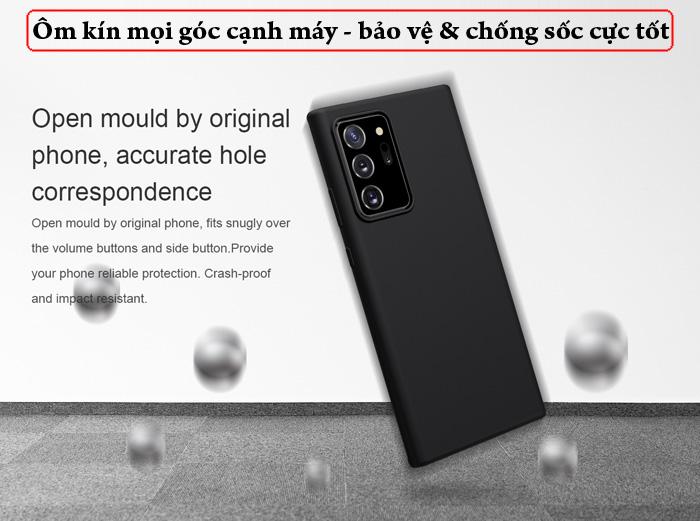 Ốp lưng Samsung Note 20 Ultra / 5G Nillkin Flex Case Silicon mềm mịn 3