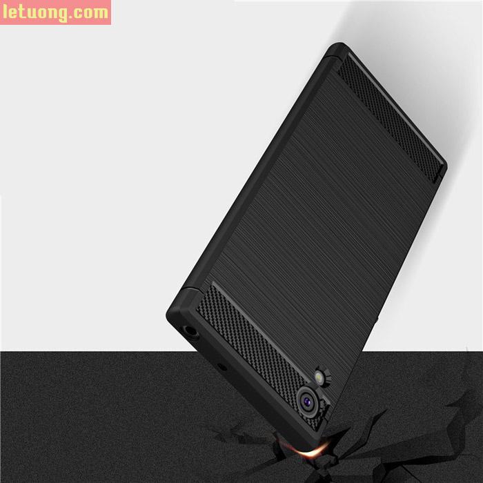 Ốp lưng Sony Xperia XA1 Viseaon Rugged Armor Carbon nhựa mềm 3