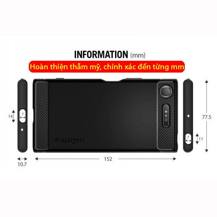Ốp lưng Sony XZ1 Spigen Rugged Armor nhựa dẻo chống sốc từ USA 4