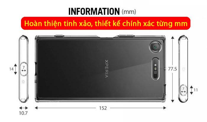Ốp lưng Sony XZ1 Spigen Ultra Hybrid Crystal trong suốt từ USA 3