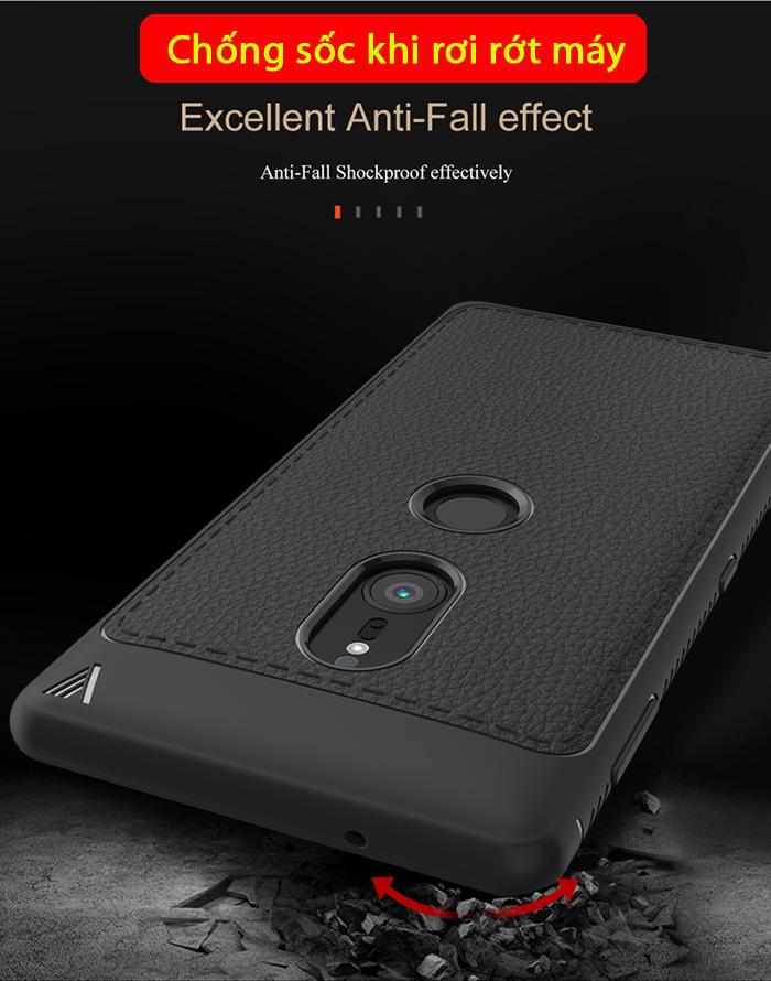 Ốp lưng Sony XZ2 Lenuo Leshen Serie vân da sang trọng - chống sốc 3