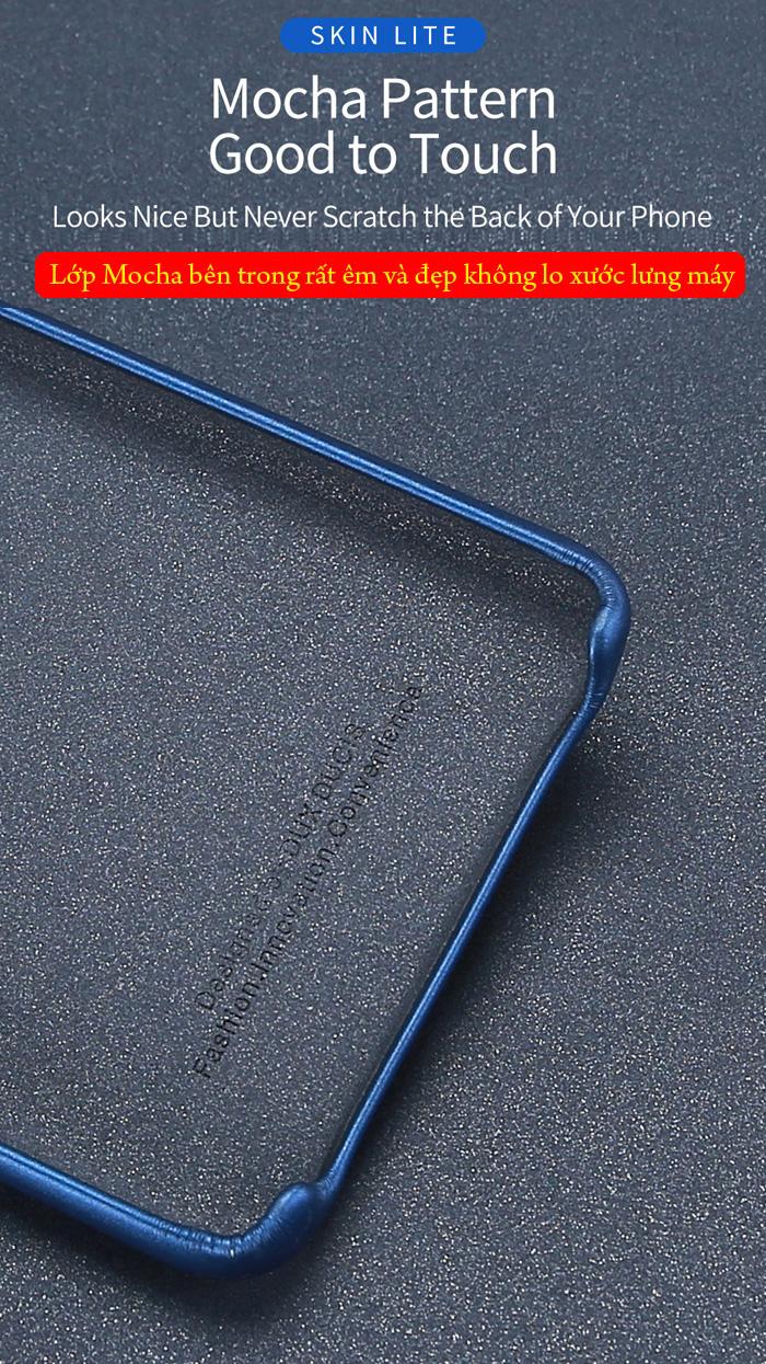 Ốp lưng Xiaomi Mi 9 Dux Ducis Skin Lite lưng da mềm mịn 3