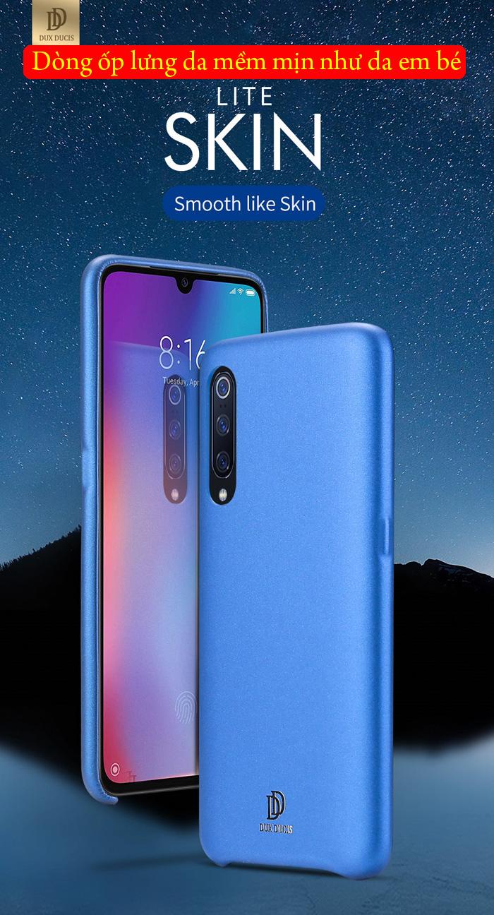Ốp lưng Xiaomi Mi 9 Dux Ducis Skin Lite lưng da mềm mịn 7