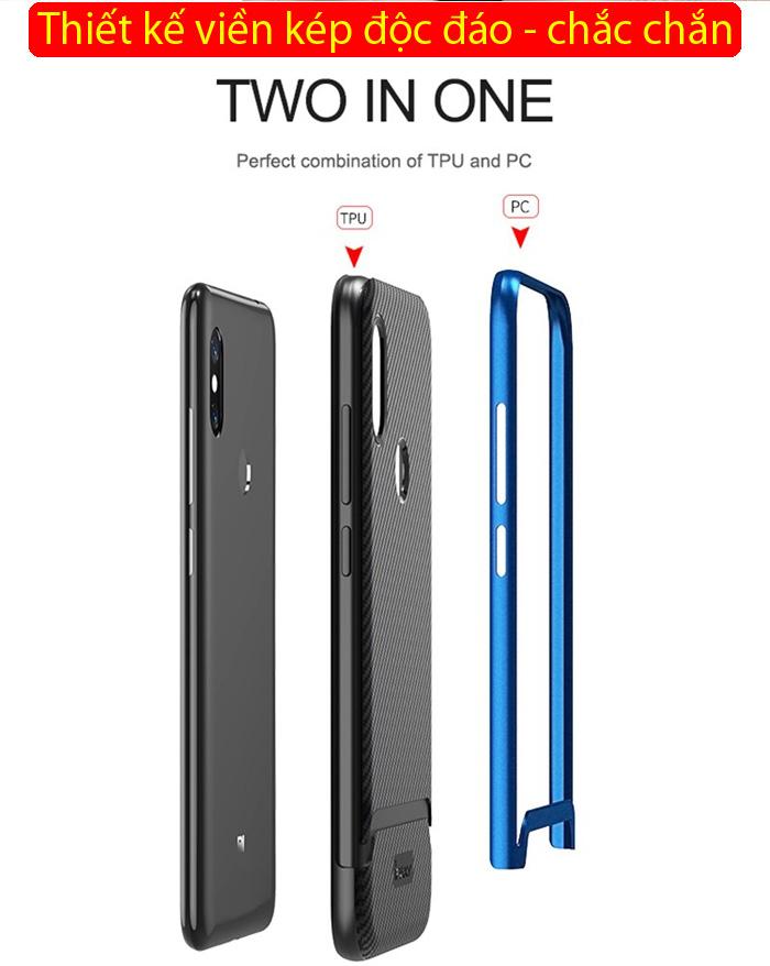 Ốp lưng Xiaomi Note 6 Pro Ipaky Neo Hybrid viền kép chắc chắn 1