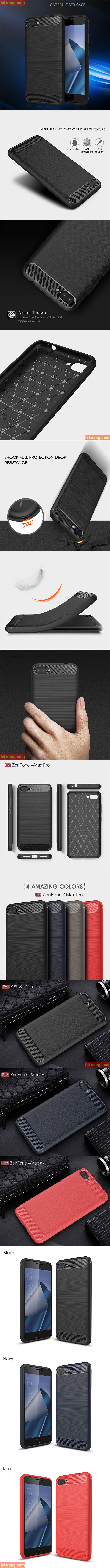 Hình ảnh ốp lưng Zenfone 4 Max Pro Viseaon Rugged Armor nhựa mềm TPU chống sốc.