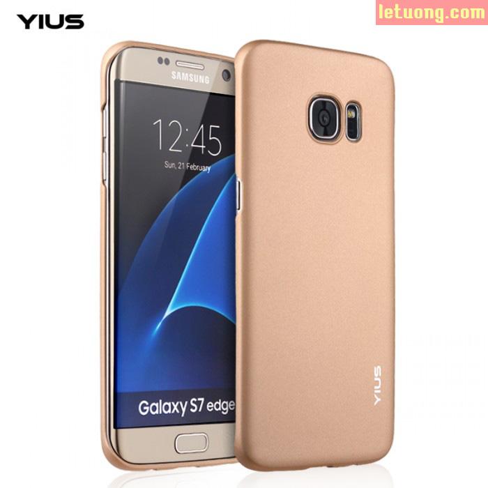 Ốp lưng Galaxy S7 Edge Yius Case mỏng 0,7mm, lưng nhung mịn