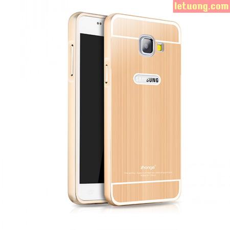 Ốp lưng Galaxy A7 2016 Zhonge Armor Metal viền nhôm chống sốc